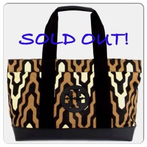 Tory Burch Printed Beach Tote, Dakar/Black