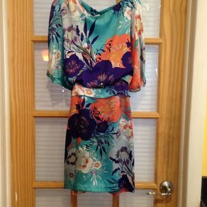 Dresses & Skirts - Silky floral print dress. 6.
