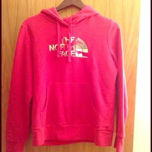 Pink North Face sweatshirt