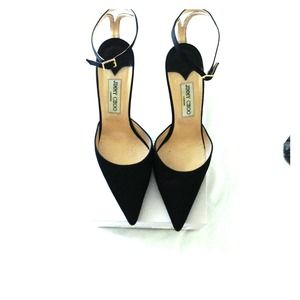 Jimmy Choo - Entrap Satin Black Heels - 39.5/9.5