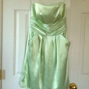 Dresses & Skirts - Satin light green strapless dress