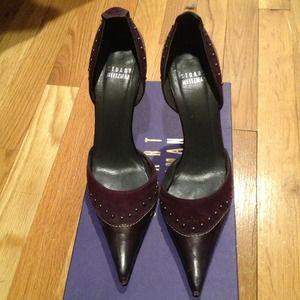 Stuart Weitzman purple pointy heels