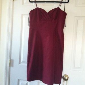 Dresses & Skirts - Burgundy wine dress with spaghetti straps