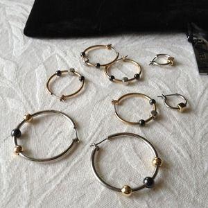 Assorted jewelmint hoop earrings