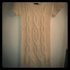 BDG White Cable-Knit Sweater Dress