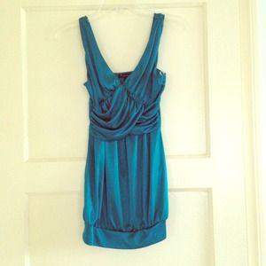Forever 21 teal dress