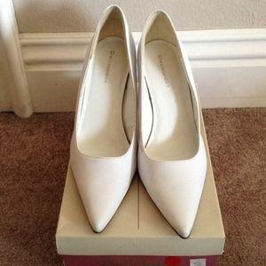 White Med high heels