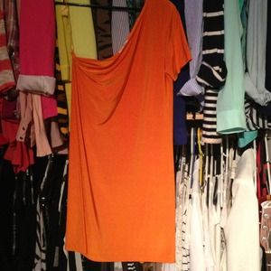 Josh Brody Dresses & Skirts - Orange one-shoulder shift dress