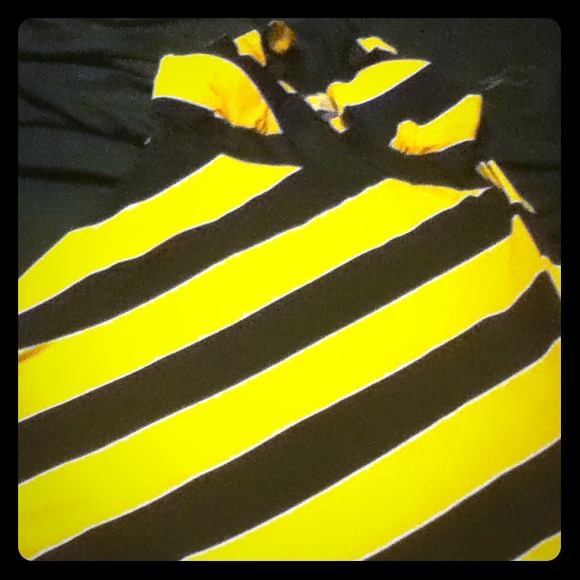 80% off Dresses & Skirts - HOSTPICK New yellow and black striped ...