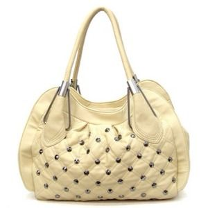 Handbags - Creme colored studded purse