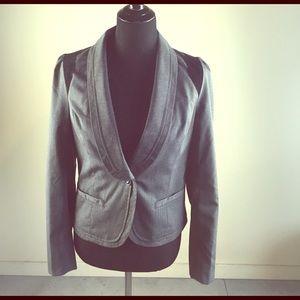 Jackets & Blazers - Gray and Black Pinstriped Blazer
