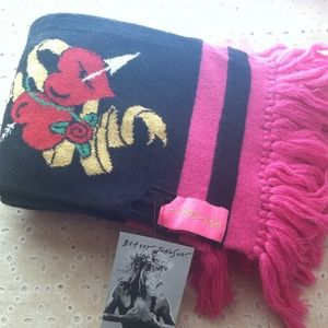Betsey Johnson's Scarf Pink and Black