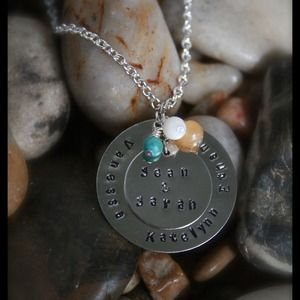 Jewelry - Personalized hand stamped necklace