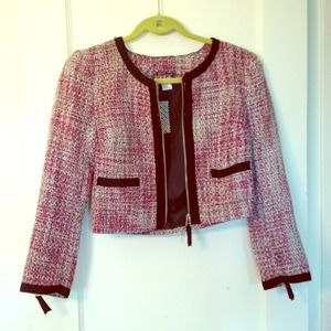 New Cropped tweed jacket from H&M