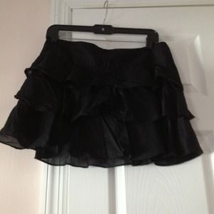 Express black ruffle skirt