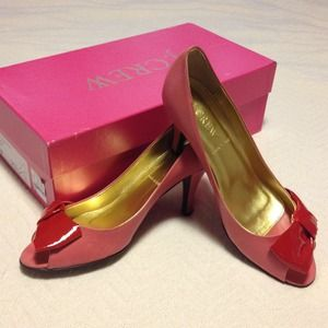 JCrew peep-toe pumps