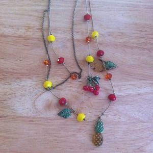Fruit/jungle inspired Betsey Johnson necklace