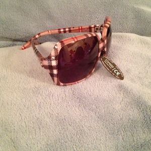 Accessories - Plaid Framed Sunglasses