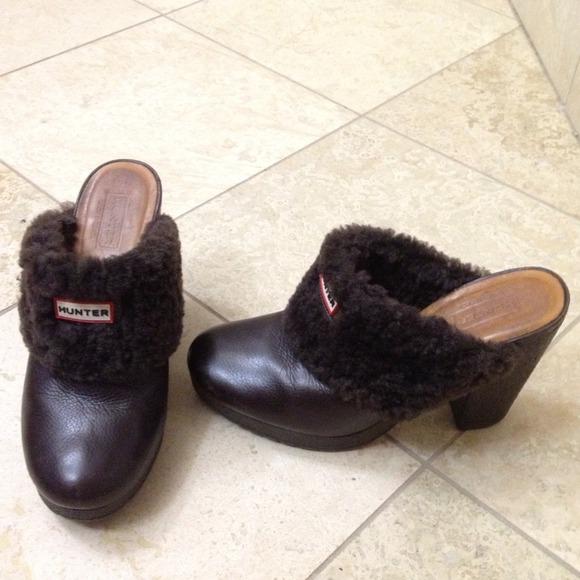 85 Off Hunter Boots Boots - Hunter Bruson Fur Lined Clogs