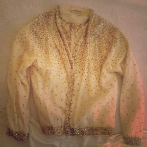 Jackets & Blazers - Vintage sequin sweater