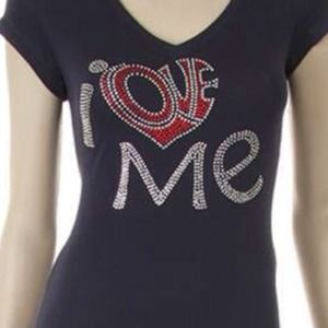 Tops - I Love Me Bling Tee
