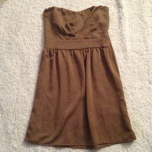 Brown polka dot dress