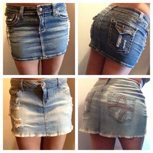 Denim - Cute bundle of jean skirts