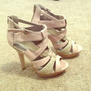 ALDO - Aldo leather nude sandals or heels from Seila's closet on ...