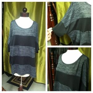 Tops - ✨SOLD✨ B & B Black and Gray Top