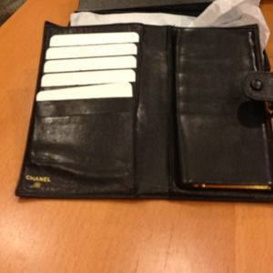 Chanel black bifold wallet