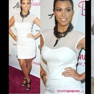 Kardashian dress by bebe dress white mesh