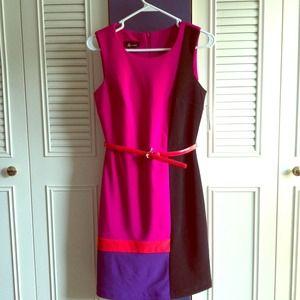 Modern Color-Block Dress
