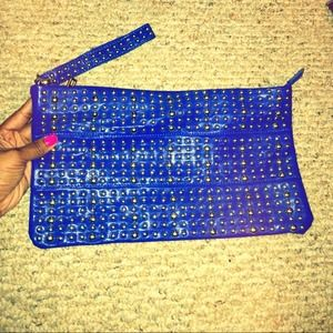 Cobalt Blue Clutch {with silver studs}