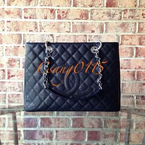 100% AUTHENTIC CHANEL GST GrandShopperTote NWT