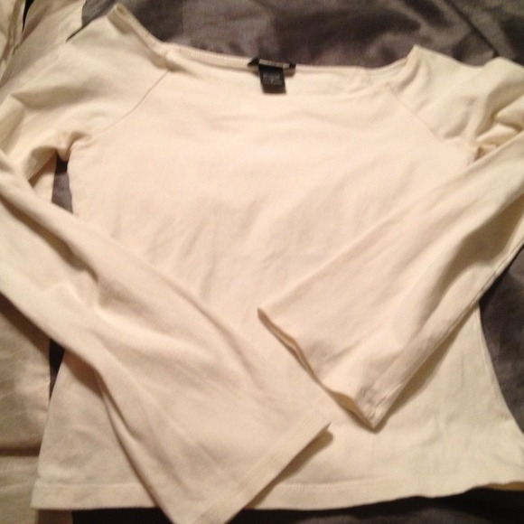 Victoria's Secret Tops - Cream boat neck shirt