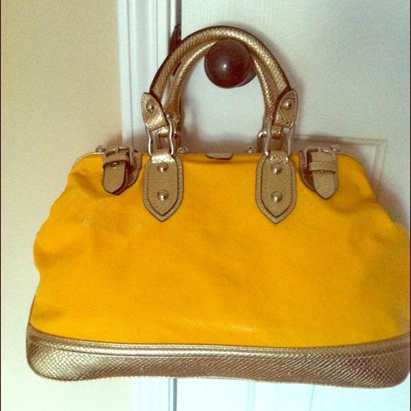 Maxx New York yellow handbag