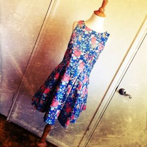 Dresses & Skirts - SALE Floral Denim Dress + Box Pleated Skirt