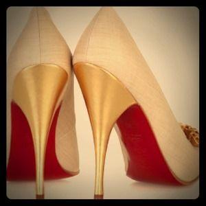 replica louboutin shoes men - 81% off Christian Louboutin Shoes - Christian Louboutin Beige ...