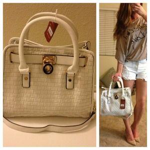 Summer White Woven Handbag