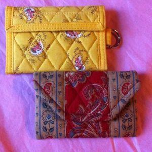 $✂️2Vintage Vera Bradley wallet/coin $20 or 1 $14