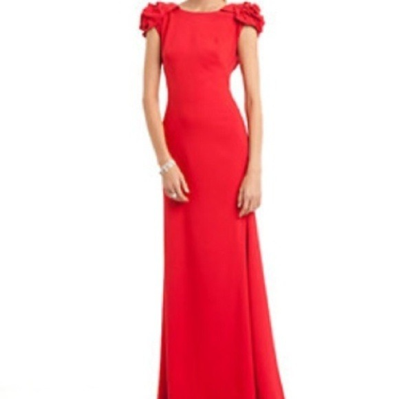 JS Collections Dresses | Js Collection Lea Red Rose Cap Sleeve ...