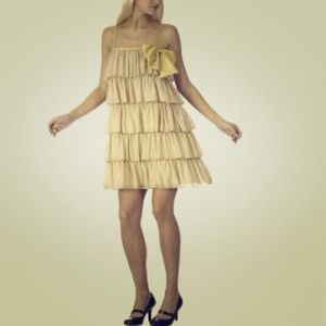 Tiered gold dress