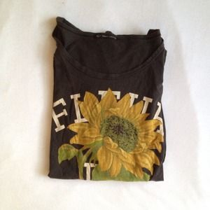 Urban Outfitters Tops - ❌SOLD❌ Fleur De Amor Graphic Oversized Tee