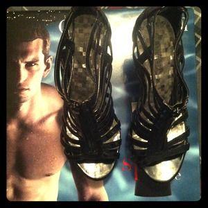 Black Strip Heels