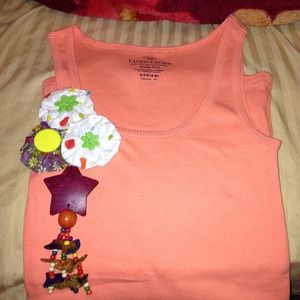 Hand decorated tank top!