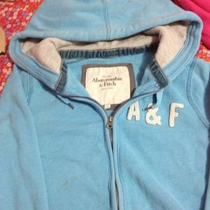 Baby Blue Abercrombie and Fitch Hoodie