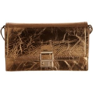 LANVIN Partition Clutch - Mettalic Gold