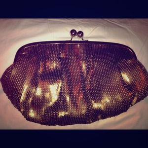 Metalic Brown sequin clutch