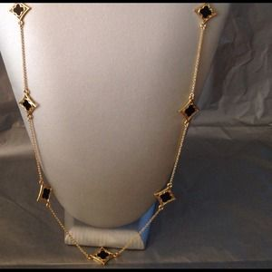 Trendy Long Golden Necklace
