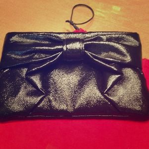 Authentic Black Valentino Clutch Bag